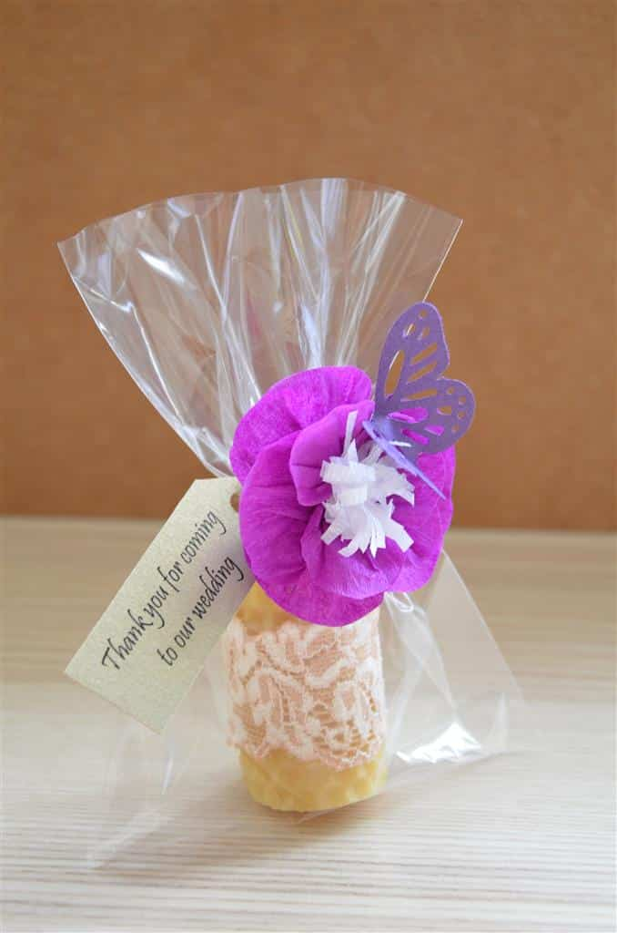 ... Gifts For Guests Wedding Beeswax Candle Favour Guest Gifts eBay